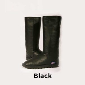 Black Tall Leather Ugg Boots Perth