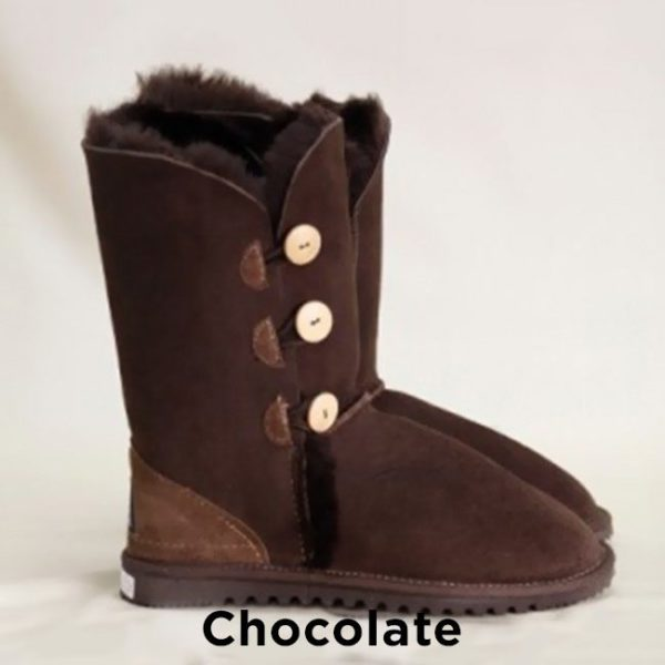 Chocolate Cald Button Up Ugg Boots Perth