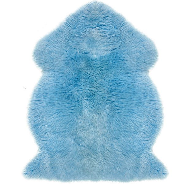 Infant care sheepskin blue