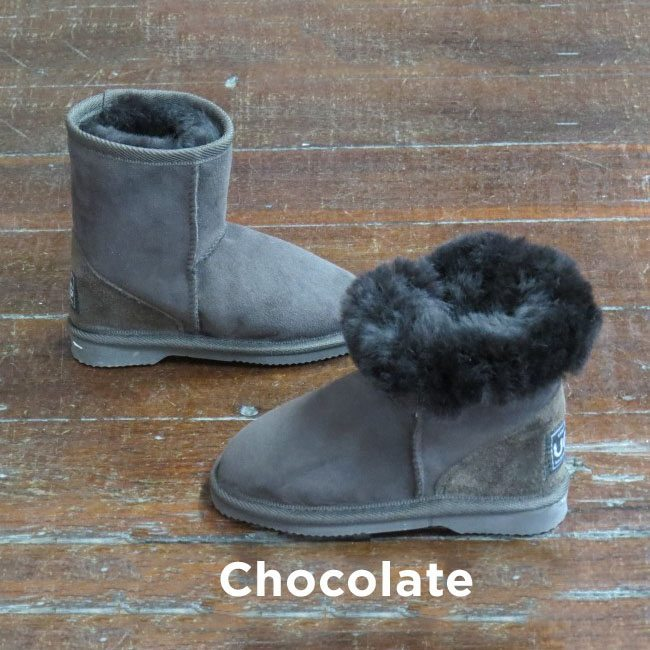 Kids Cholcolate Ankle Uggs Boots Perth