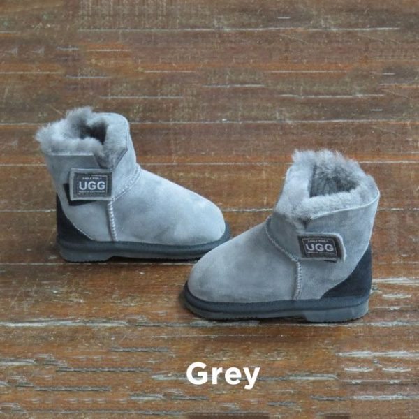 Kids Velcro Grey Ugg Boots Perth