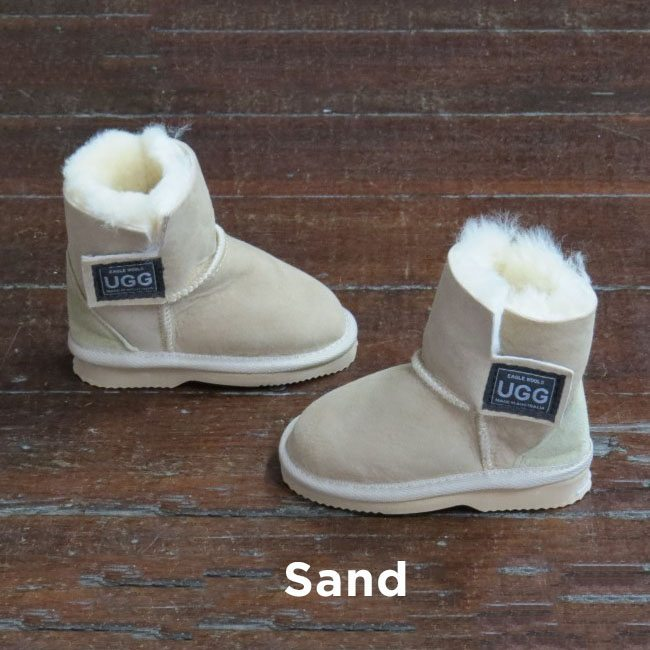 Kids Velcro Sand Ugg Boots Perth