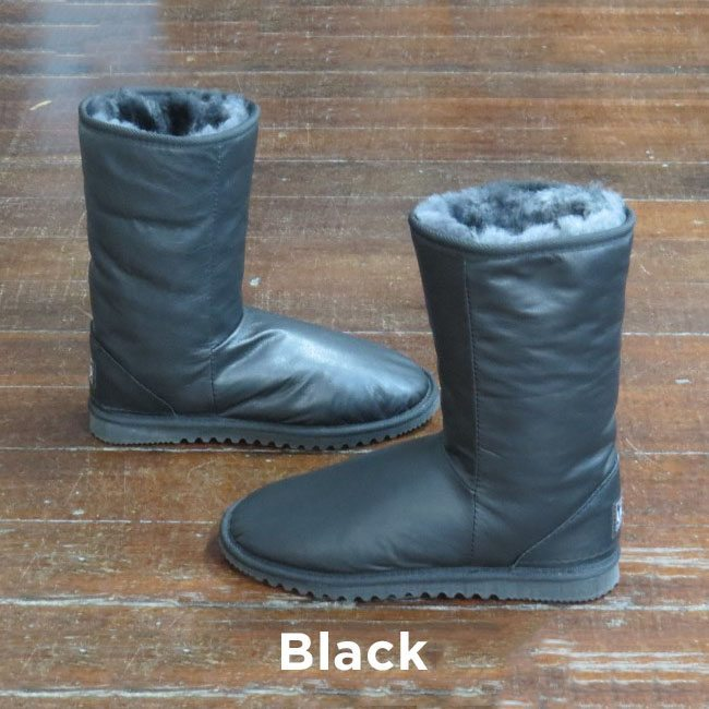 Leather Black Calf Boots Perth