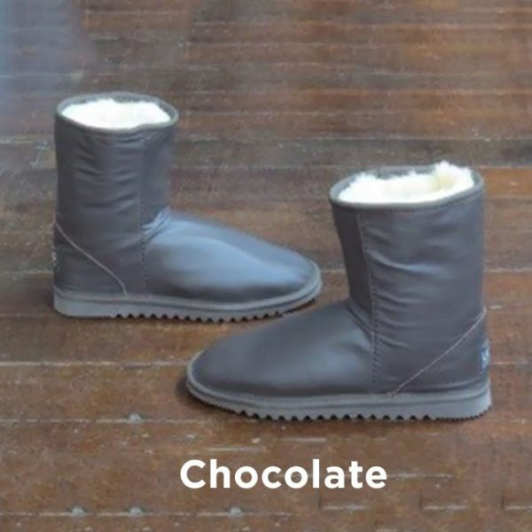 Leather Chocolate Ankle Boots Perth