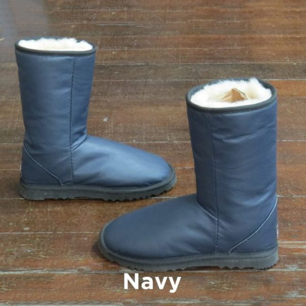 Leather Navy Calf Boots Perth