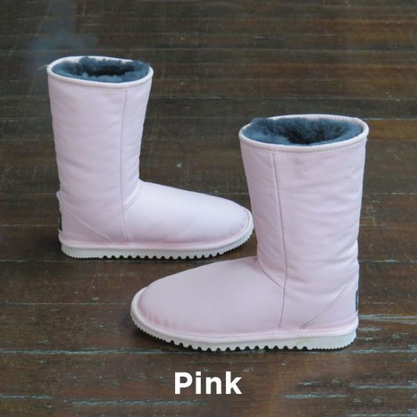 Leather Pink Calf Boots Perth