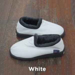 Leather White Trekker Slipers Perth