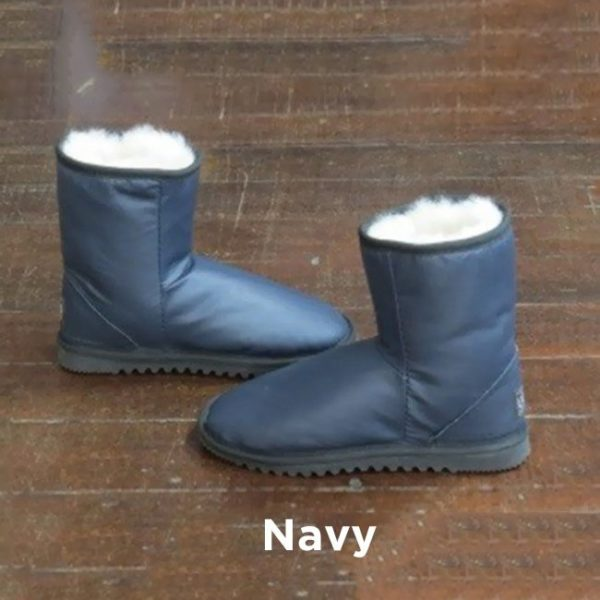 Leather Navy Ankle Boots Perth