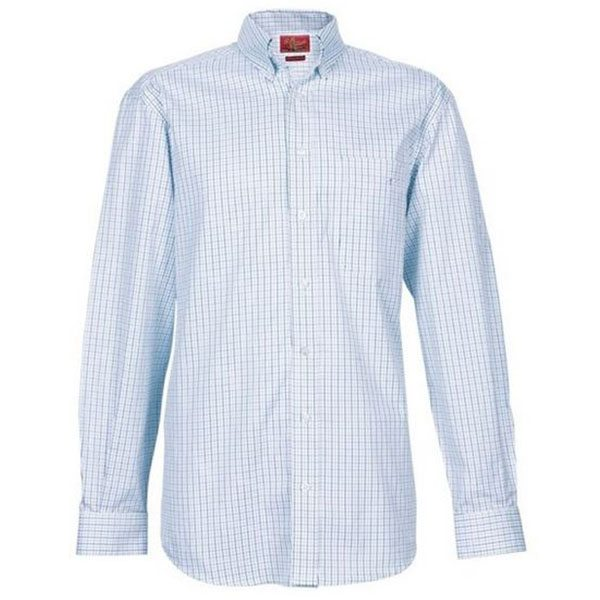 Milton check shirt - white and blue