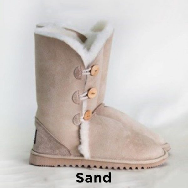 Sand Calf Button Up Ugg Boots Perth