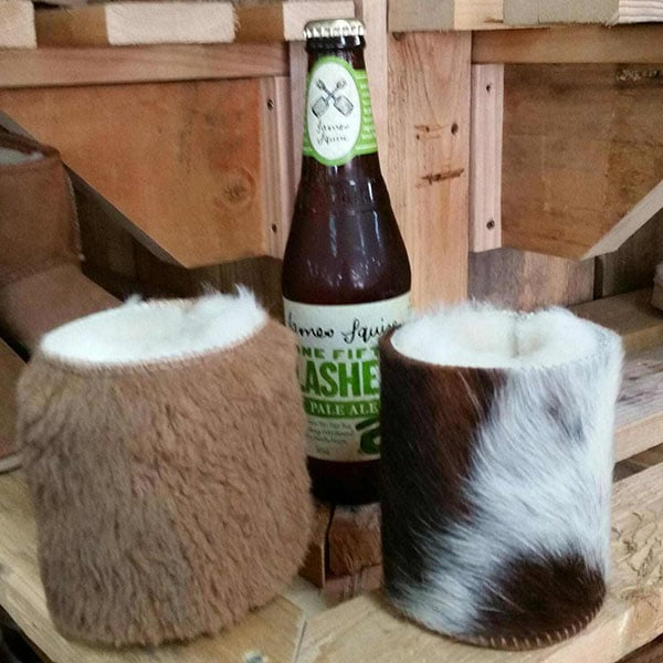 Stubby Holders Cow Hide And Kangaroo