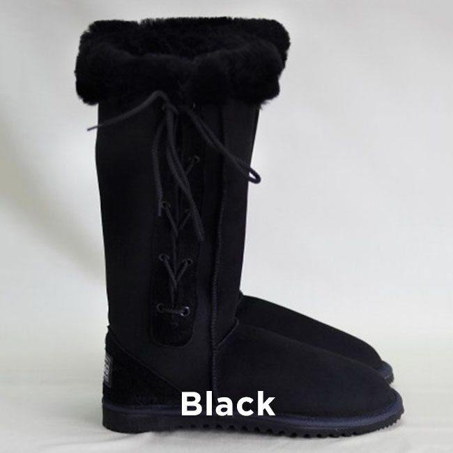 Tall Black Lace Up Uggs Boots Perth