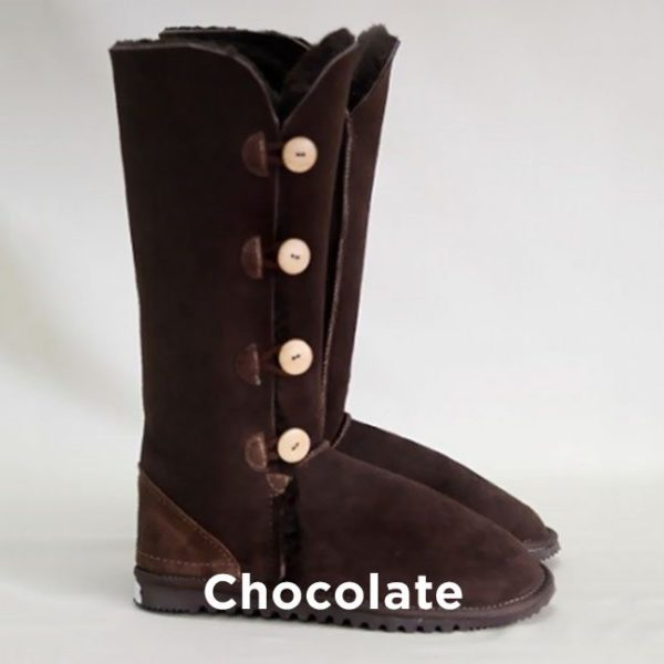 Tall Chocolate Button Up Ugg Boots Perth