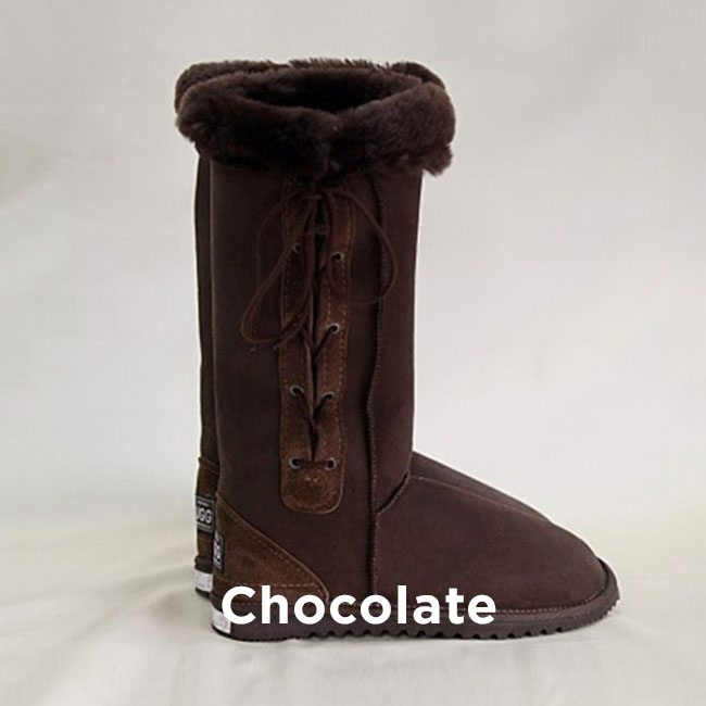Tall Chocolate Lace Up Uggs Boots Perth