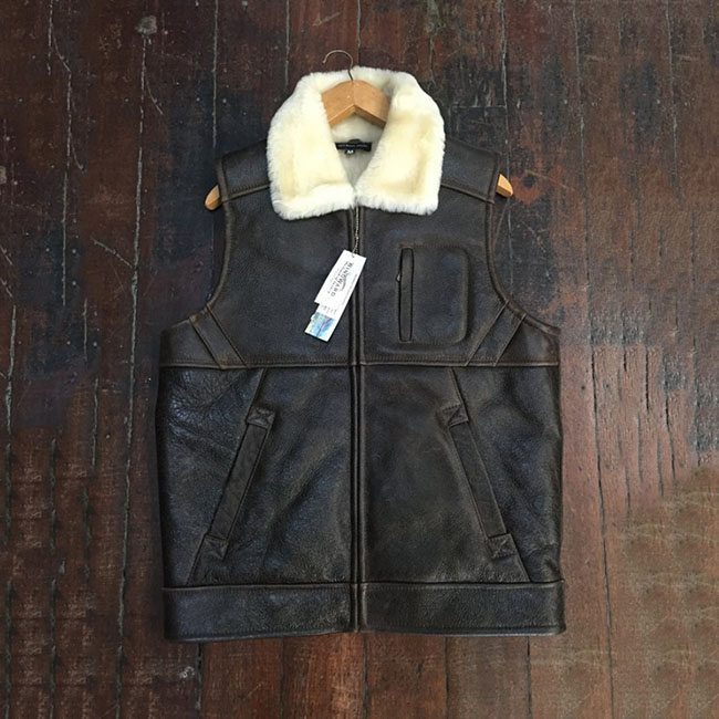 leather sheepskin jacket vest Perth