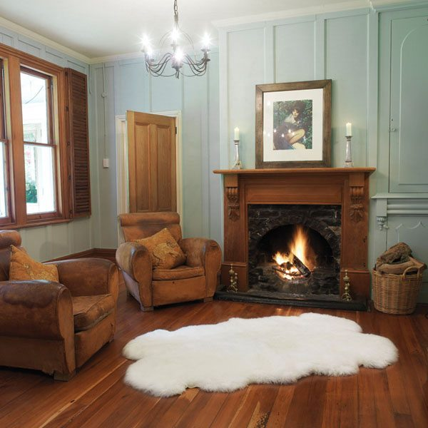 quarto sheep skin rug