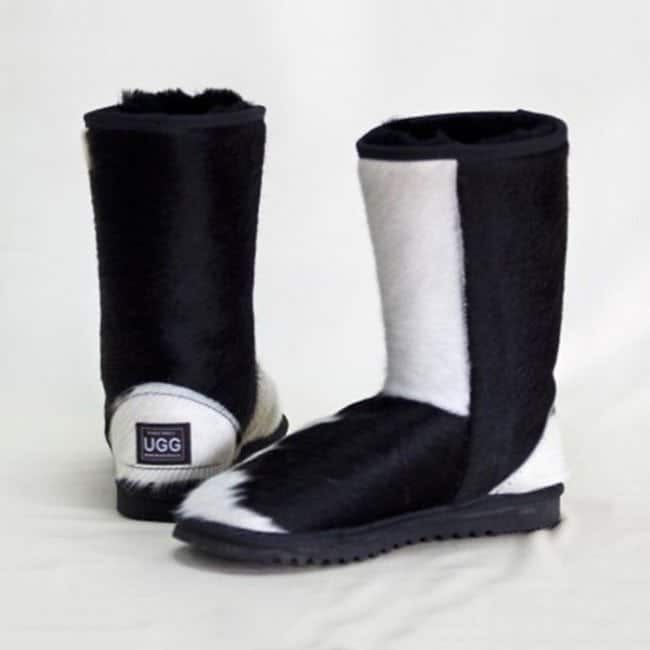 Mid Calf Cow Hide Ugg Boots Eagle Wools Australian Made Products