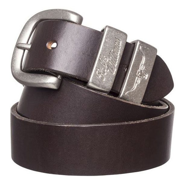 1 1-2inch 3 Piece Solid Hide Belt - brown