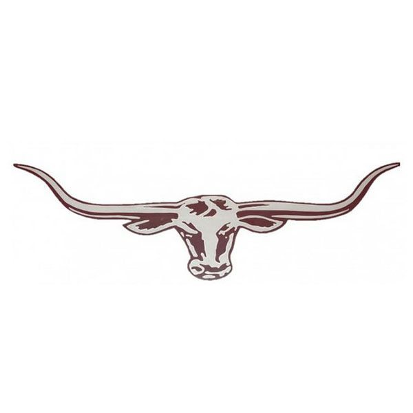 70cm Longhorn Decal - Red