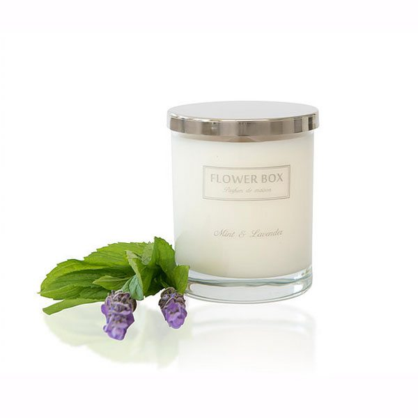 Flower Box - Regular Candle, Large candle - Mint and Lavender