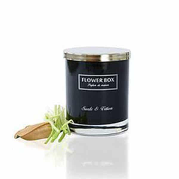 Flower Box - Suede and Vetiver regular candle