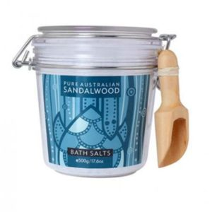 Pure Australian Sandalwood - Bath salts jar
