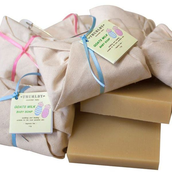 Thurlby - Baby goats milk soap wrapped in calico