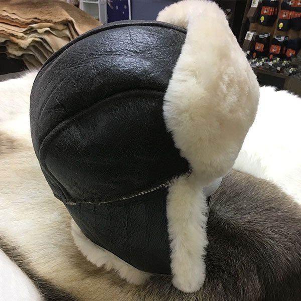leather bombers hat
