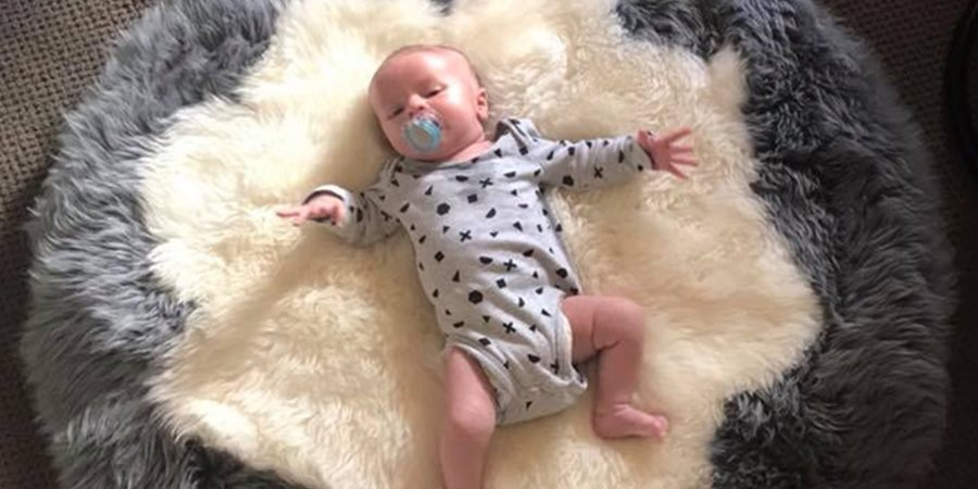 Baby Infant Care Rug Sheepskin Wool Hand Made Eagle Wools Frematle