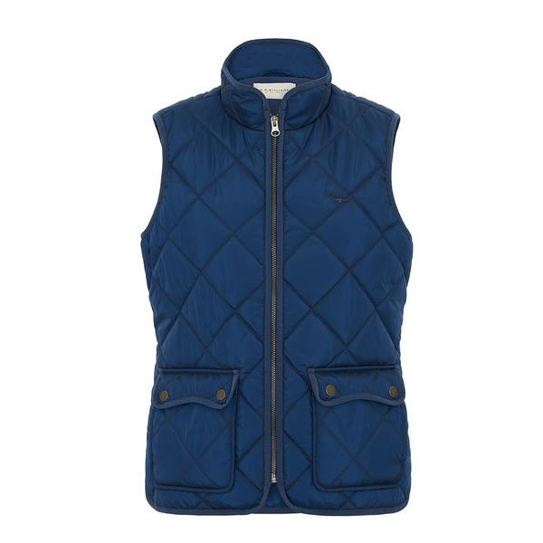 R.m Williams Ladies Quilted Riding Vest Eagle Wools Blue
