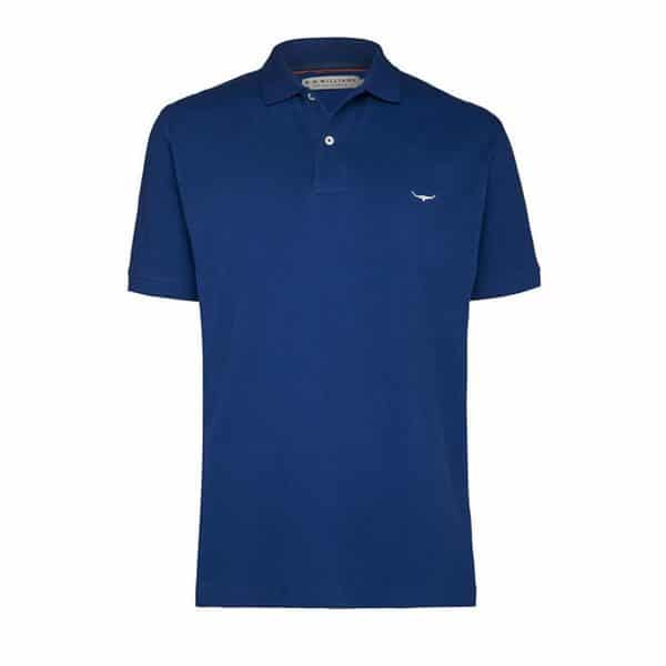 R.m Williams Polo Shirt Blue Eagle Wools