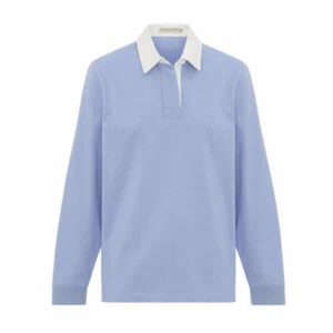 R.m Williams Ladies Rugby Longsleeve Top Light Blue Eagle Wools