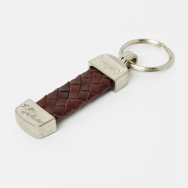 R.m Williams Plaited Key Ring Brass Fitti Brown Eagle Wools