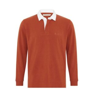 R.m Williams Tweedale Rugby Shirt Russett Eagle Wools