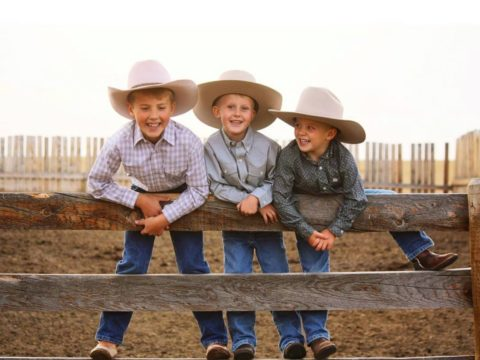 Three Boys With Akubra Hats